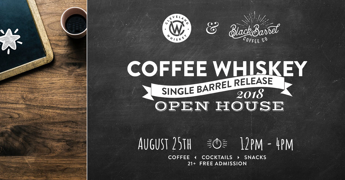 Coffee Whiskey Open house event in cleveland ohio